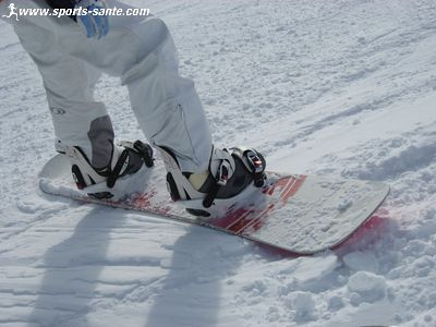 Reglage fixation snowboard