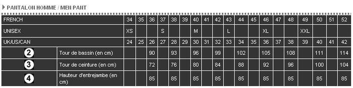 UK US CAN 24 25 26 27 28 29 30 31 32 33 34 35 36 37 38 39 40 41 42. Tour de  bassin (en cm) 90 93 96 99 102 105 108 111 114. Tour de ceinture ... 4a79636e8c2