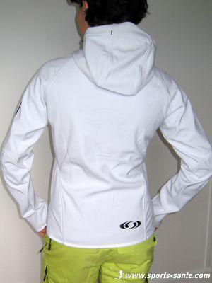 Veste de ski blanche pour femme