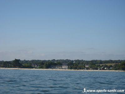 De la plage de Kerleven � l'entr�e du Port de la For�t Fouesnant