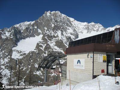Evasion Mont Blanc Piste Map. Photo du Mont Blanc à