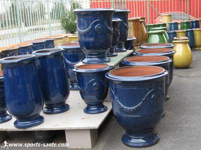 les poteries d 39 anduze vase maill grande jarre en terre cuite pour le jardin poterie. Black Bedroom Furniture Sets. Home Design Ideas