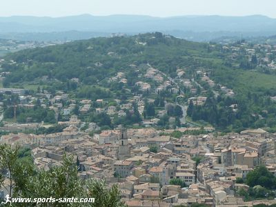 Photo panoramique de Manosque depuis le Mont d'Or