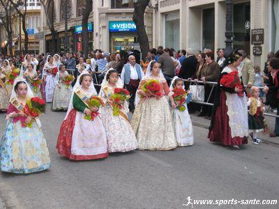 La f�te moderne des � Fallas � de Valence en Espagne  au XXI�me si�cle