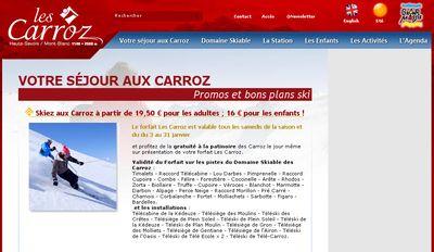 Promos et bons plans sur la station des Carroz dans les Alpes de Haute Savoie