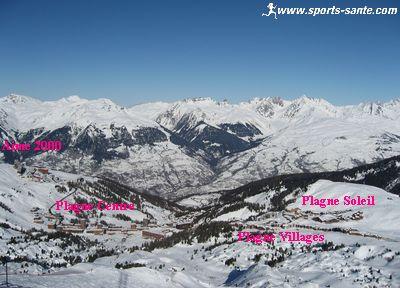 Panorama depuis le sommet de La Grande Rochette (La Plagne)