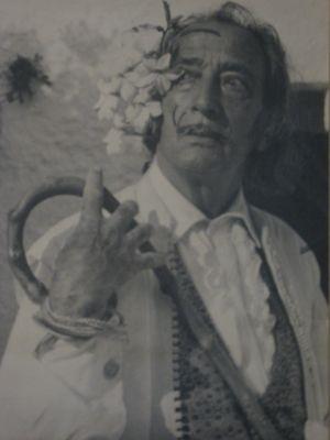 Portrait du peintre Salvador Dali