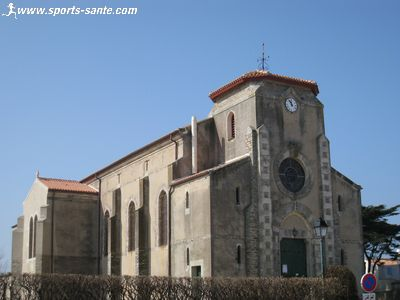 Photo de l'�glise du Sacr� C�ur � l'Herbaudi�re