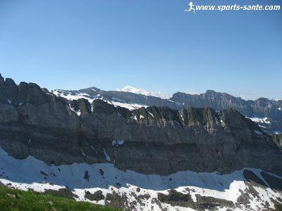 Le Mont Blanc depuis la t�te de Bostan