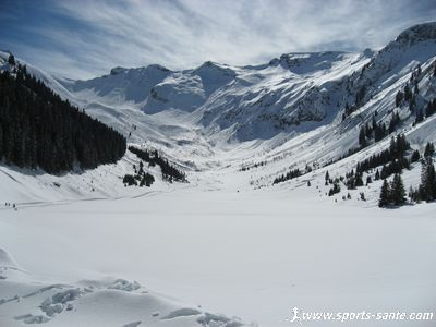 Photo de la combe de Veret � Flaine