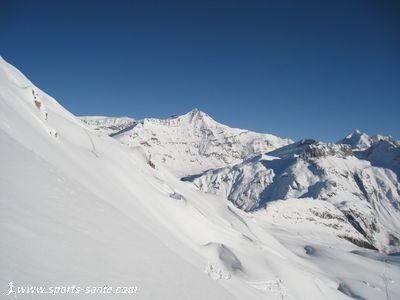 Hors piste Val d'Is�re : itin�raire de la Familiale Sud