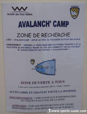 Avalanch'Camp : sensibilisation au risque d'avalanche en hors piste