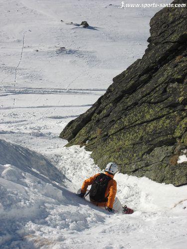 Hors piste de proximit� en snowboard sur le domaine de Val Thorens