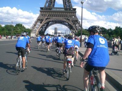 Londres Paris � v�lo pour M�decins du Monde : une randonn�e cycliste humanitaire