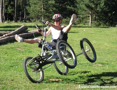 Photo d'�quilibre en quad vtt